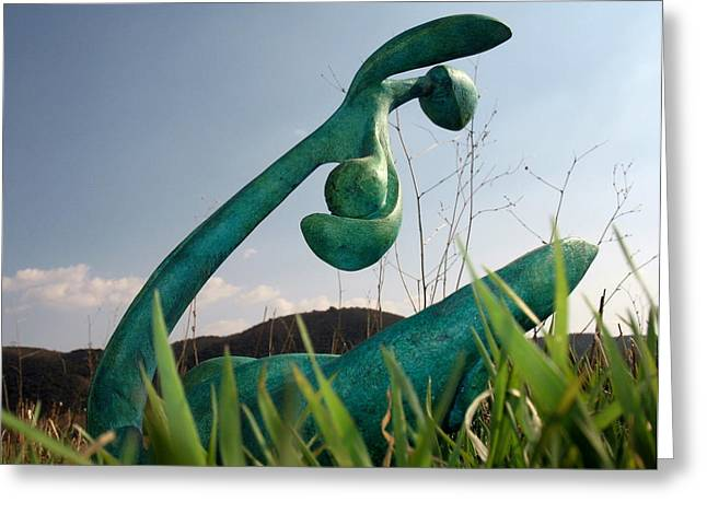 Organic Sculptures Greeting Cards - Organic 4 Greeting Card by Flow Fitzgerald