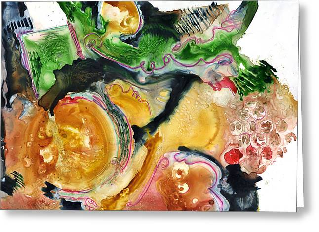 Organic Abstract Art Greeting Card by Blenda Studio