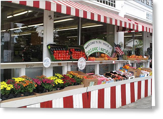 Recently Sold -  - Farm Stand Greeting Cards - Organic and Natural Greeting Card by Barbara McDevitt