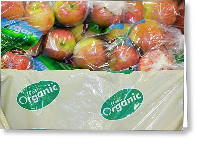 Organic Apples For Sale Greeting Card by Ashley Cooper