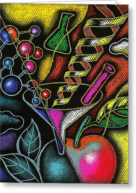 Potential Greeting Cards - Organic Food Greeting Card by Leon Zernitsky