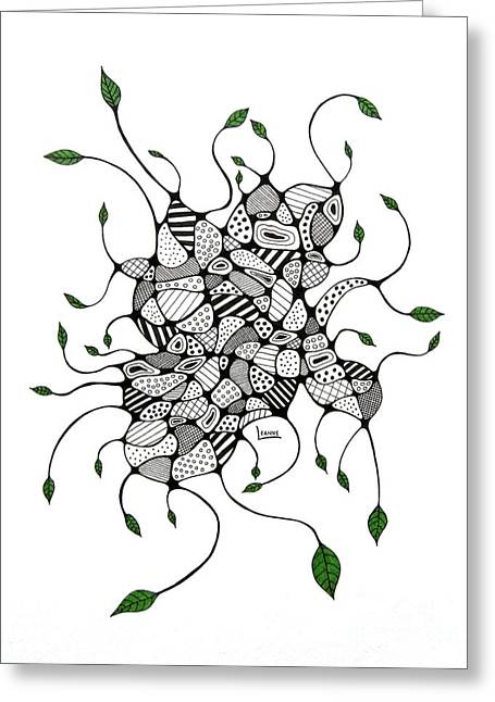Organic Drawings Greeting Cards - Organic Greeting Card by Leanne Karlstrom