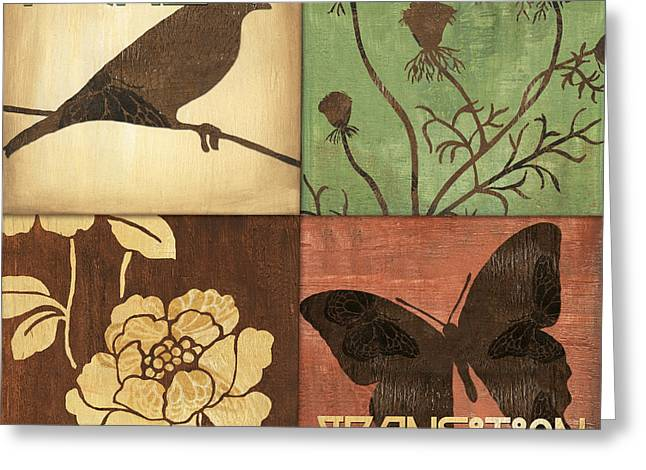 Blooms Mixed Media Greeting Cards - Organic Nature 1 Greeting Card by Debbie DeWitt