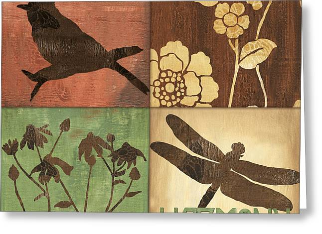 Dragonfly Greeting Cards - Organic Nature 2 Greeting Card by Debbie DeWitt