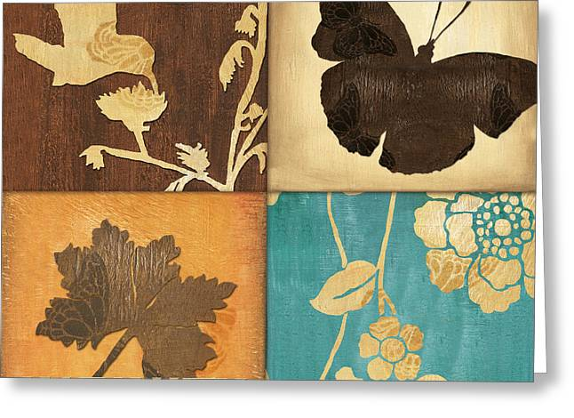 Blossoms Mixed Media Greeting Cards - Organic Nature 3 Greeting Card by Debbie DeWitt