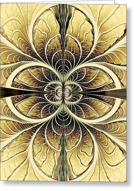 Science Greeting Cards - Organic Texture Greeting Card by Anastasiya Malakhova