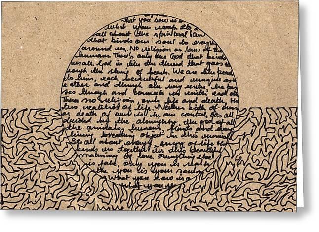 Organic Truth Part 1 Greeting Card by Sumit Mehndiratta