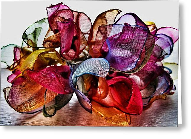 Designer Colour Greeting Cards - Organza Petals Greeting Card by Marianna Mills