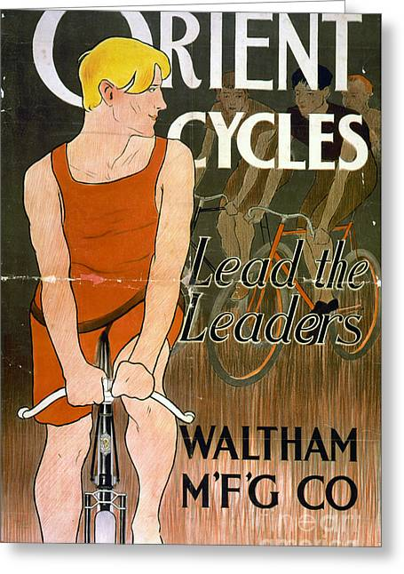 Orient Cycles Vintage Bicycle Poster Greeting Card by Edward Fielding