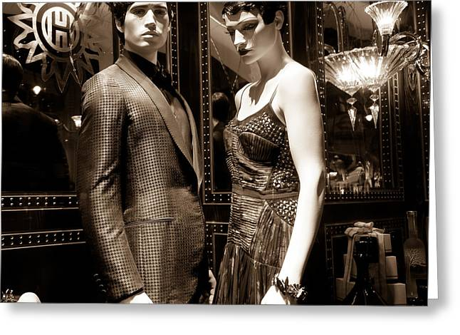 Hounds Tooth Greeting Cards - Orient Express-ions - The Honeymooners Greeting Card by Pete Edmunds