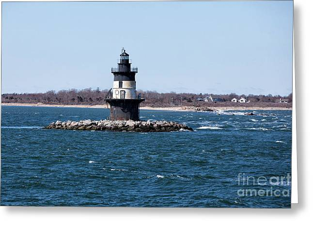 Orient Point Lighthouse Greeting Card by Stephen McCabe