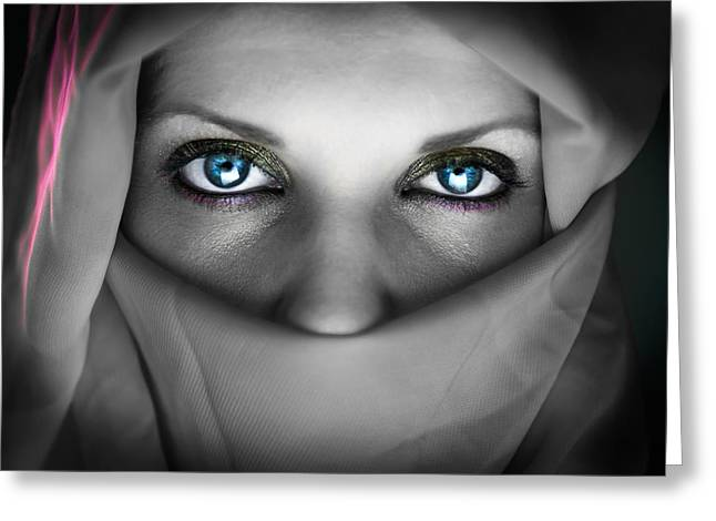 Burkas Greeting Cards - Oriental Beauty Greeting Card by Sotiris Filippou