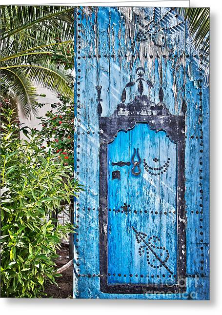 Old Door Greeting Cards - Oriental garden Greeting Card by Delphimages Photo Creations