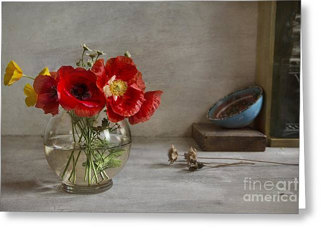 Poppy Decorations Greeting Cards - Oriental Poppies Greeting Card by Elena Nosyreva