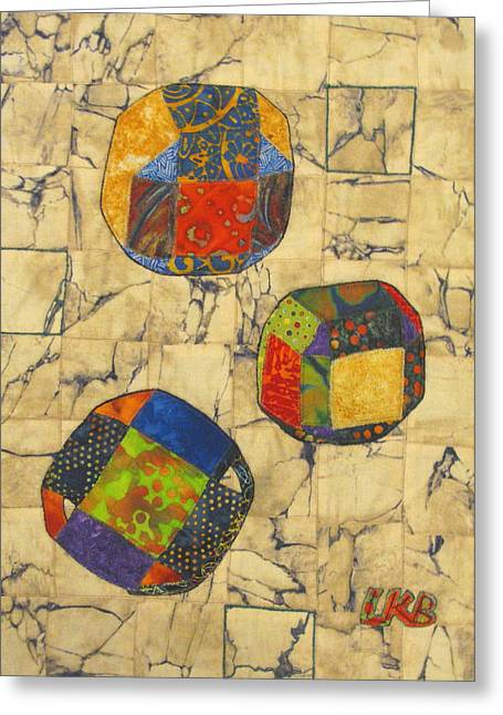 Spheres Tapestries - Textiles Greeting Cards - Origami Spheres Greeting Card by Lynda K Boardman