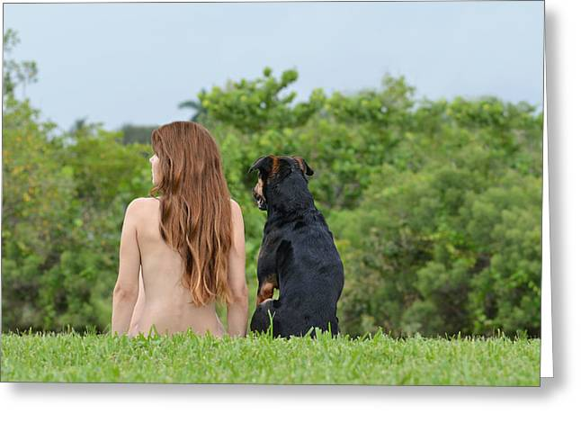 Self-portrait Photographs Greeting Cards - Origin Greeting Card by Laura  Fasulo
