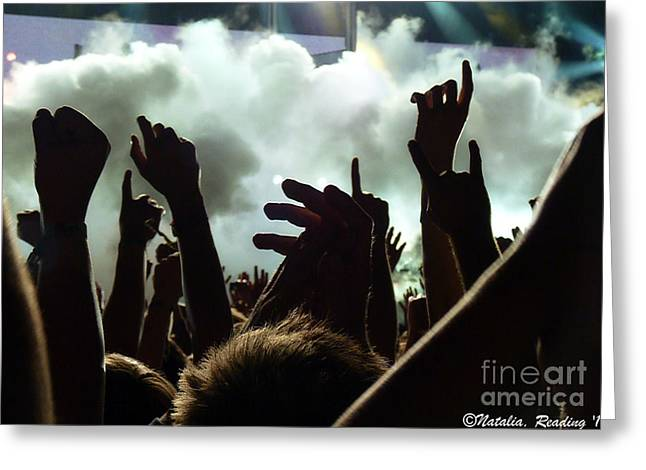 Mosh Pit Greeting Cards - Muse at Reading - Origin of Chaos Greeting Card by N Faulkner