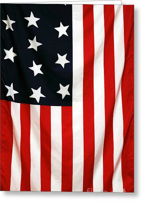 Americana Pictures Greeting Cards - Original 13 Greeting Card by John Rizzuto