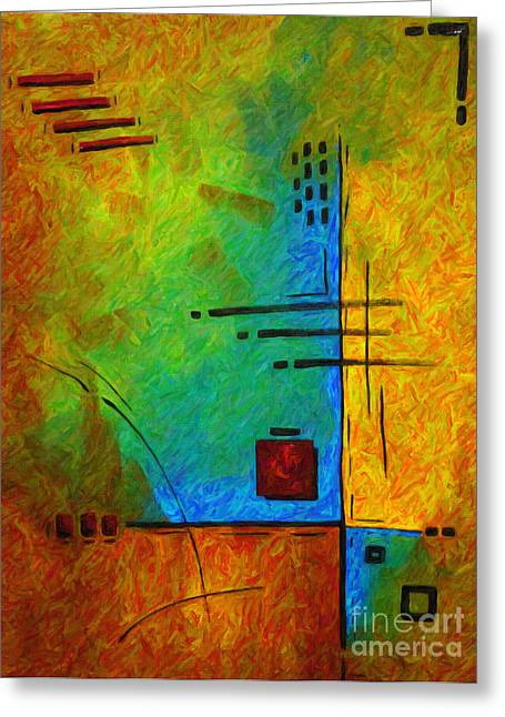 Original Abstract Painting Digital Conversion For Textured Effect Resonating IIi By Madart Greeting Card by Megan Duncanson