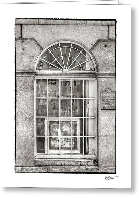 Antique Ironwork Greeting Cards - Original Art for Sale in Black and White Greeting Card by Brenda Bryant