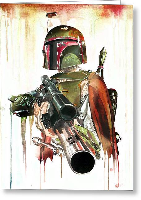 Original Bounty Hunter Greeting Card by Christina Perry