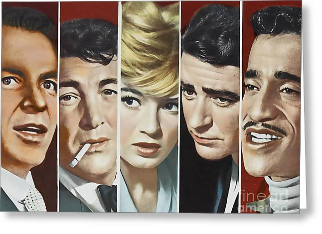 Frank Sinatra Posters Greeting Cards - Original Oceans 11 Cast Greeting Card by Marvin Blaine