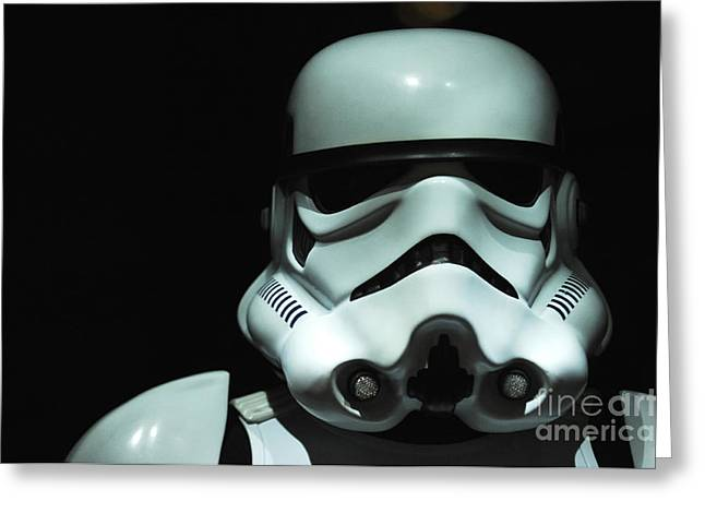 Movie Prop Photographs Greeting Cards - Original Stormtrooper Greeting Card by Micah May