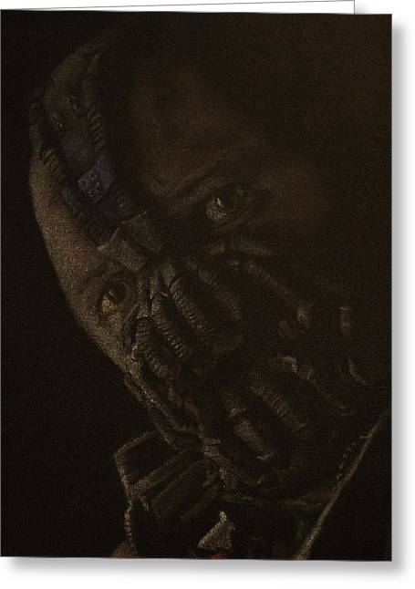 Batman Pastels Greeting Cards - Original Tom Hardy as Bane Greeting Card by Will Dudley