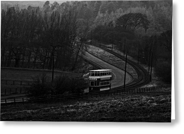 Steam Cabinet Greeting Cards - Original Vintage Trolley Tram - Beamish Village Greeting Card by Michael Braham