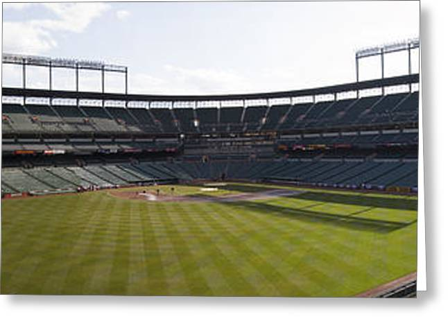 Historic Home Greeting Cards - Oriole Park at Camden Yards Greeting Card by Darleen Stry