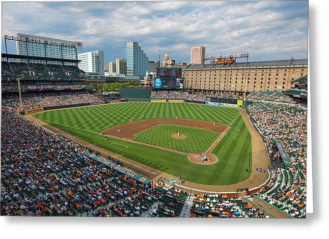 Oriole Park At Camden Yards Greeting Card by Mark Whitt