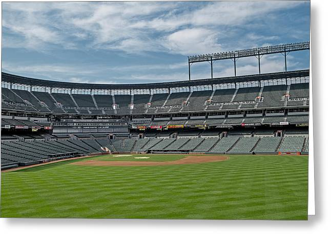Oriole Park at Camden Yards Stadium Greeting Card by Susan Candelario