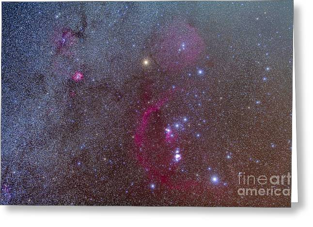 Monoceros Greeting Cards - Orion And Monoceros Region Greeting Card by Alan Dyer
