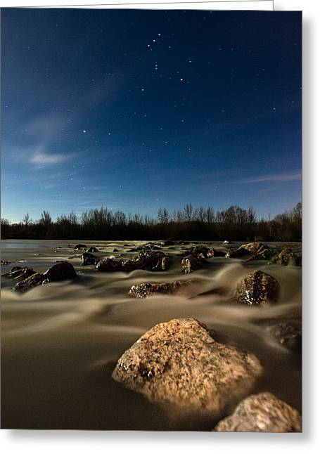 Rapids Greeting Cards - Orion Greeting Card by Davorin Mance
