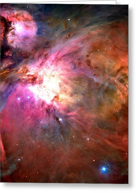 Space Shuttle Mixed Media Greeting Cards - Orion Nebula Close Up 1-2-14 Greeting Card by L Brown