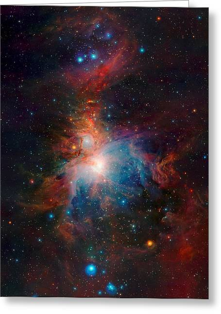 Orion Mixed Media Greeting Cards - Orion Nebula from VISTA Telescope ESO in Chile Greeting Card by L Brown