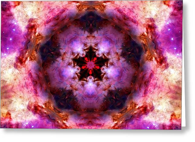 Orion Mixed Media Greeting Cards - Orion Nebula IV Greeting Card by Derek Gedney