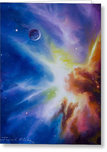 Stellar Paintings Greeting Cards - Orion Nebula Greeting Card by James Christopher Hill