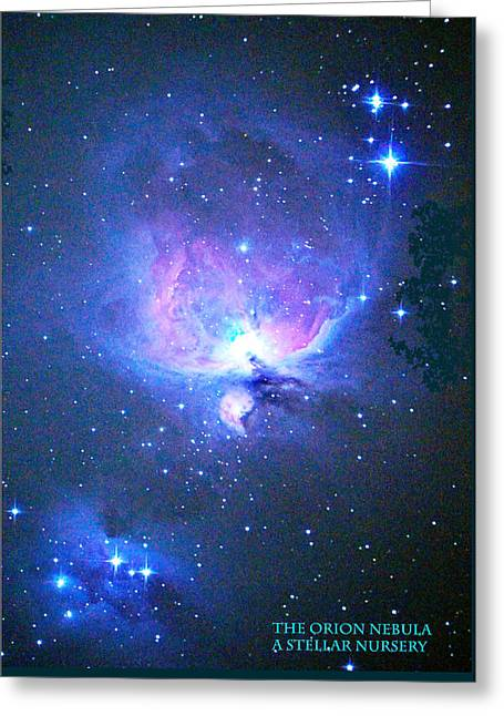 Glowing Hydrogen Greeting Cards - Orion Nebula Greeting Card by Jonathan Lingel