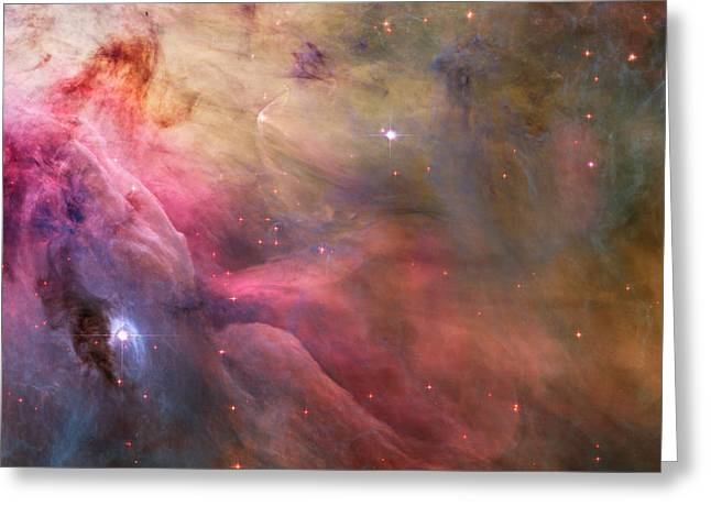 Orion Nebula Greeting Card by L Brown