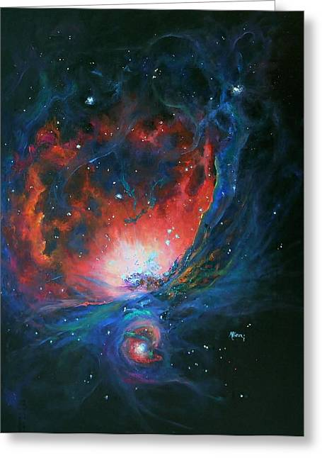 Orion Nebula M42 Greeting Card by Marie Green