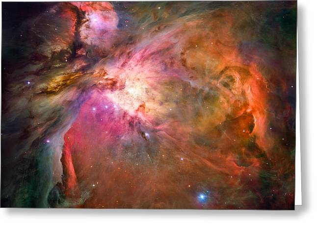Light-years Greeting Cards - Orion Nebula Greeting Card by Marco Oliveira
