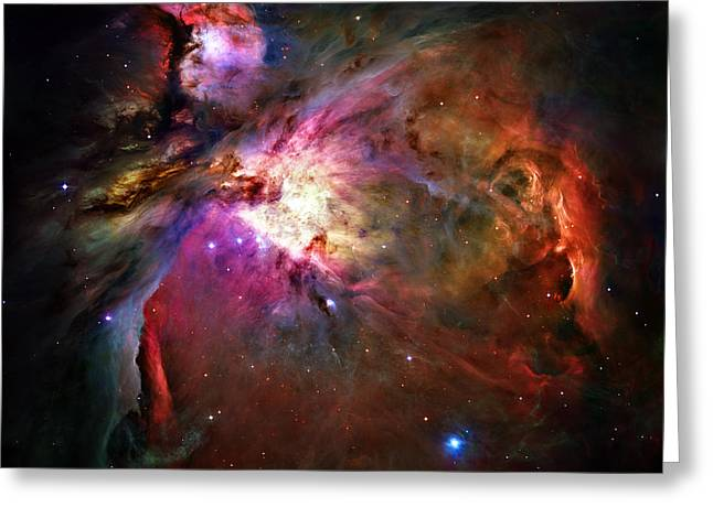 Hubble Photographs Greeting Cards - Orion Nebula Greeting Card by Ricky Barnard
