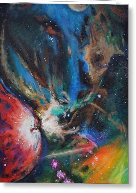 Orion Nebula Greeting Card by Toni Wolf