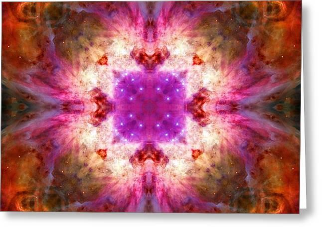 Orion Mixed Media Greeting Cards - Orion Nebula V Greeting Card by Derek Gedney