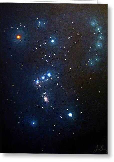 Star Chart Greeting Cards - Orion the Hunter Greeting Card by Timothy Benz