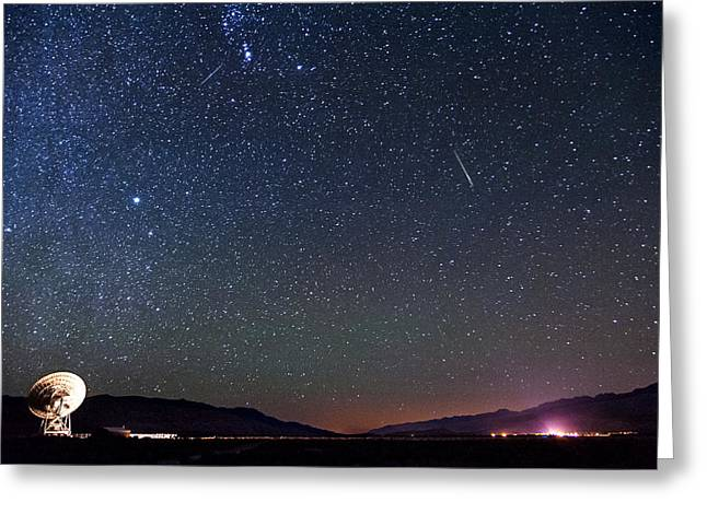 Meteor Greeting Cards - Orionids Meteors Greeting Card by Cat Connor