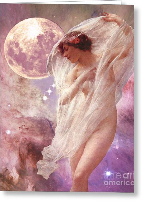 Orion's Dancer Greeting Card by Maureen Tillman