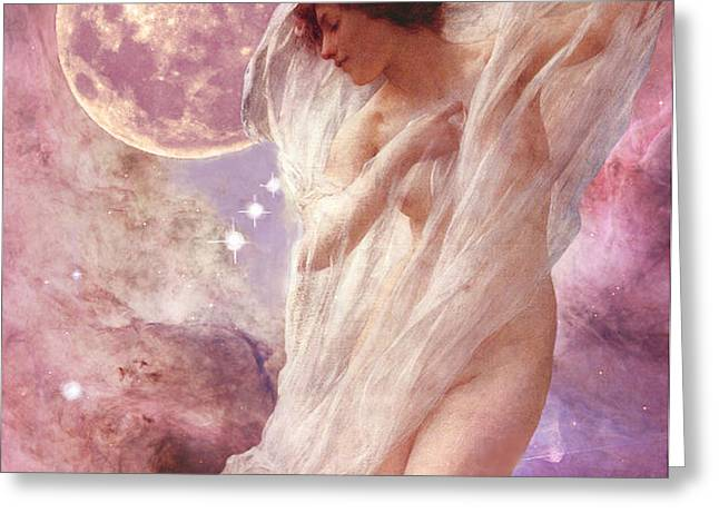 Orion's Dancer Greeting Card by Maureen Tillman