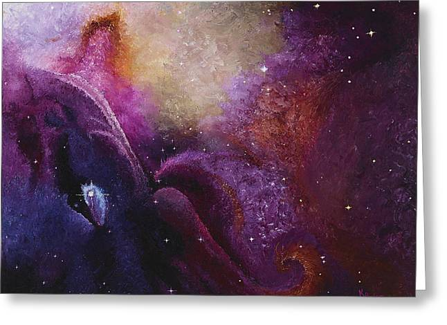 Recently Sold -  - Stellar Paintings Greeting Cards - Cosmos Orions Nebula  Greeting Card by Karen Balon